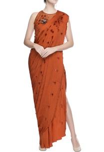 orange-drape-style-sari