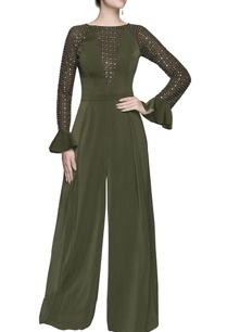 green-silver-sequin-jumpsuit