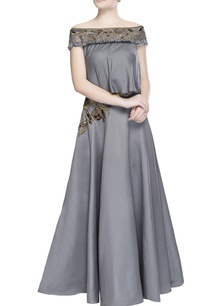 pewter-grey-embroidered-skirt-set