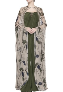 beige-floral-printed-cape