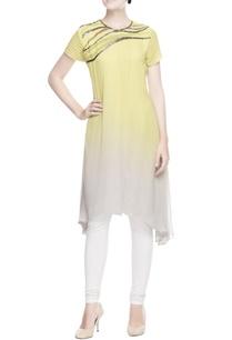 yellow-grey-asymmetric-tunic