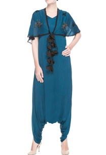 teal-blue-jumpsuit-with-scarf