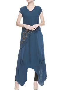 teal-blue-layered-kurta