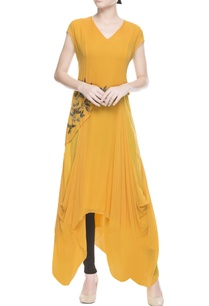 mustard-yellow-layered-kurta