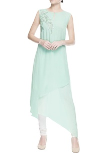 mint-green-asymmetric-kurta