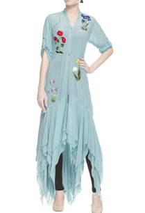 light-blue-ruffle-kurta