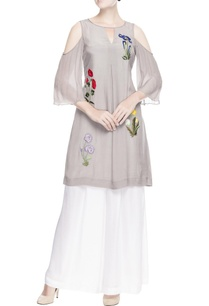 grey-cold-shoulder-kurta