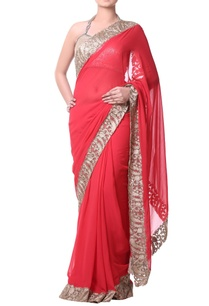 coral-red-sari-with-zari-embroidery