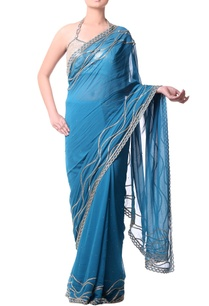 turquoise-blue-sari-with-gold-buged-embroidery
