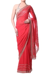 peach-sari-with-gold-bugle-embroidery