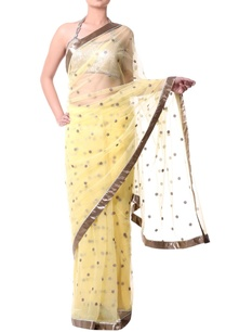 yellow-sari-with-gold-sequence
