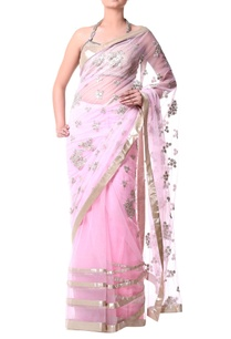 pink-sari-with-gold-sequence