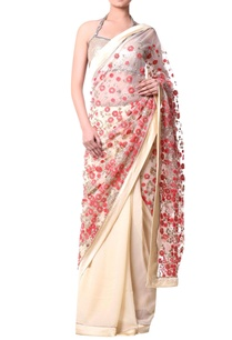 beige-sari-with-coral-red-floral-embroidery