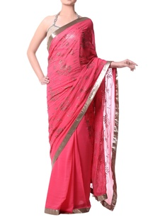 pink-sari-with-antique-gold-sequence