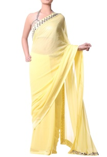 yellow-sari-with-metallic-embroidery