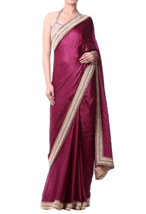 plum-sari-with-gold-embroidery