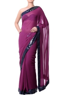 plum-sari-with-stonework-and-blue-sequence-embroidery