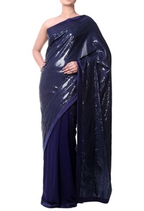 navy-blue-georgette-saree-with-sequence-sheeting