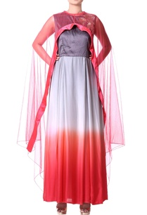 grey-ombre-anarkali-with-cape