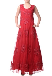 red-thread-embroidered-anarkali