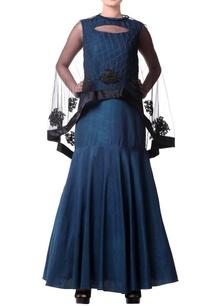 teal-blue-mermaid-style-gown