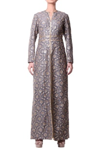 gray-jacket-dress-with-floral-jaal-embroidery