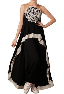 black-printed-asymmetric-tunic