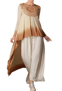 cream-brown-asymmetric-tunic