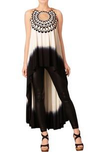 black-white-asymmetric-tunic