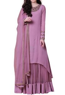 purple-embellished-kurta-lehenga