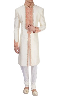 white-sherwani-with-zari-embroidery