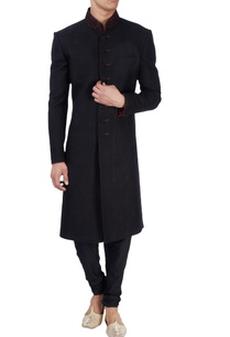 black-thread-work-embroidered-sherwani
