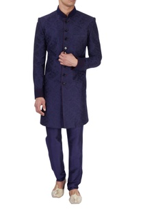 navy-blue-sherwani-churidar