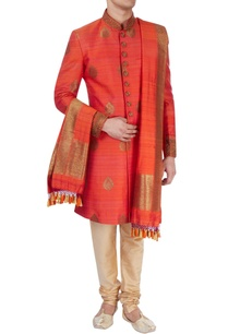 rust-orange-thread-work-sherwani
