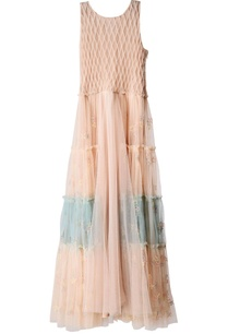 dusty-pink-and-aqua-tiered-dress