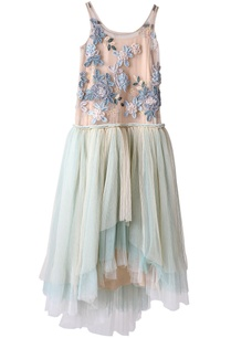 dusty-pink-and-aqua-asymmetric-dress