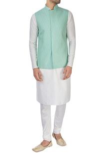 sea-green-silk-nehru-jacket