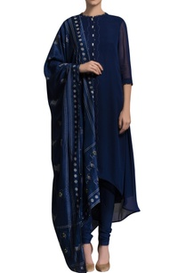 navy-blue-printed-kurta-set