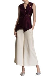 burgundy-printed-silk-top