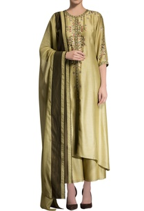 green-embroidered-kurta-with-dupatta