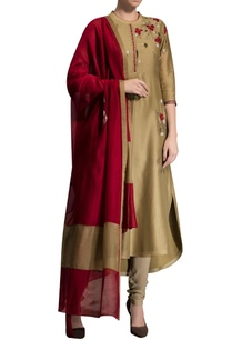 light-gold-embroidered-kurta-with-dupatta