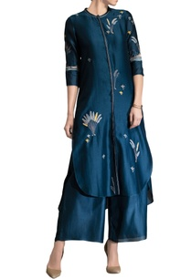 blue-applique-work-tunic-set