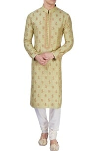 pista-green-embroidered-kurta