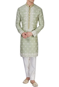 light-green-embroidered-kurta