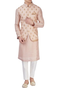 pastel-pink-embroidered-bandi-jacket