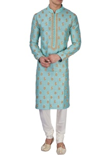 pastel-blue-embroidered-kurta