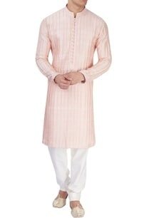 peachy-pink-textured-kurta
