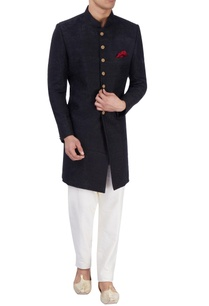 black-embroidered-sherwani