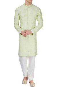 lime-green-embroidered-kurta