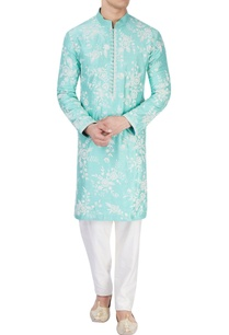 aqua-blue-embroidered-kurta